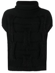 Cruciani Loose Fitted Knitted Top Black