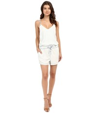 Blank Nyc Bleached Out Tencel Romper In Up In The Air Blue White Women's Jumpsuit And Rompers One Piece