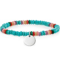 Thomas Sabo Love Bridge Sterling Silver Turquoise Bamboo Coral And Amethyst Bracelet