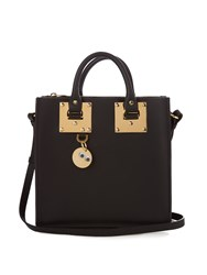 Sophie Hulme Albion Square Leather Tote Black