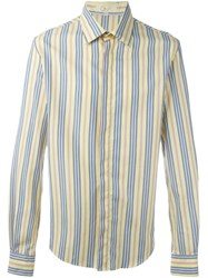 Romeo Gigli Vintage Striped Shirt Yellow And Orange