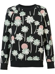 Wesc Marvin Hawaii Sweatshirt Men Cotton S Black
