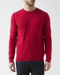 Knowledge Cotton Apparel Red Crew Neck Pullover