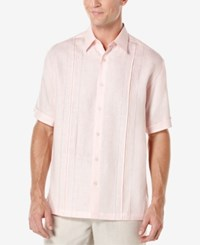 Cubavera Men's Box Pleat Short Sleeve Shirt Bright White