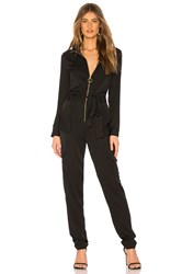 Milly Utility Jumpsuit Black