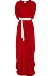 Vionnet Gathered Crepe Gown