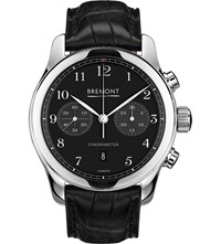Bremont Alt1 C Pb Stainless Steel And Leather Watch