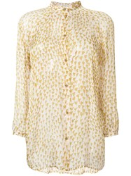 Humanoid Sheer Button Up Blouse Nude And Neutrals