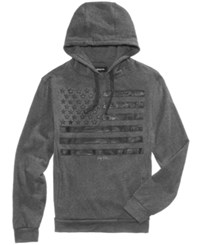 Ring Of Fire Men's Flag Stripe Hoodie Charcoal