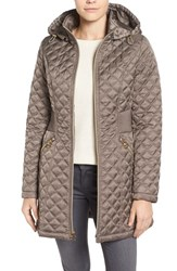 Laundry By Shelli Segal Petite Women's Quilted Hooded Coat