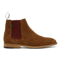 Paul Smith Ps By Tan Suede Gerald Chelsea Boots