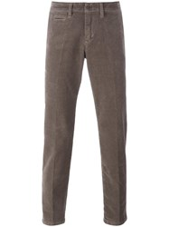 Re Hash Slim Fit Trousers Brown