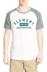 Men's Element Raglan Short Sleeve T Shirt Sequioa Green