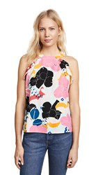 Cooper And Ella Senna Ruffle Tank Multi Big Blooms