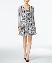 Inc International Concepts Fit And Flare Sweater Dress Only At Macy's Deep Black
