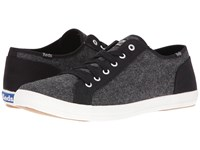 Keds Roster Ltt Tweed Canvas Black Men's Lace Up Casual Shoes