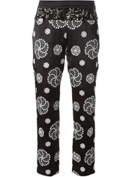 Ann Demeulemeester Circle Embroidered Cropped Trousers