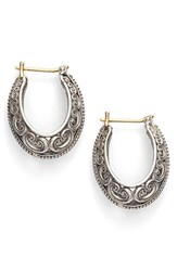 Konstantino Women's 'Penelope' Filigree Hoop Earrings