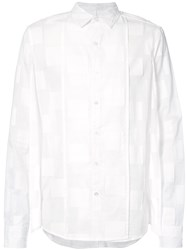 Private Stock Long Sleeve Panelled Shirt White