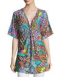 Trina Turk Madagascar Graphic Print Tunic Multi Pattern
