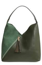 Leith Asymmetrical Zip Faux Leather Tote Bag And Zip Pouch Green
