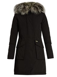 Woolrich Military Fur Trimmed Padded Parka Black