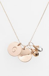Women's Nashelle Pyrite Initial And Arrow 14K Gold Fill Disc Necklace Gold Pyrite Silver Pyrite G