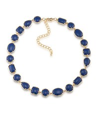 1St And Gorgeous Cabochon Stone Collar Necklace Blue