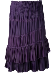 Yves Saint Laurent Vintage Pleated Skirt Pink And Purple