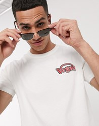 Selected Homme Organic Cotton Vegas Embroidered T Shirt In Off White
