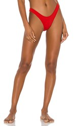 Minimale Animale The Wall Street Brief Bikini Bottom In Red. Cherry Bomb