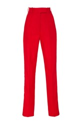 Racil Stones Hight Waisted Slim Tuxedo Trousers Red