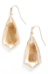 Kendra Scott Women's Carla Semiprecious Stone Drop Earrings Brown Mop Rose Gold