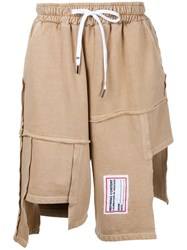 Liam Hodges Process Patchwork Shorts Brown