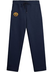 Burberry Embroidered Logo Jersey Sweatpants Blue