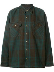 Yeezy Season 5 Classic Flannel Shirt Cotton Polyester Green