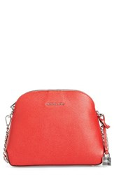 Michael Michael Kors By Medium Mercer Leather Dome Satchel Red Bright Red