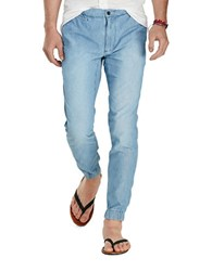 Polo Ralph Lauren Straight Fit Chambray Joggers Seacoast Blue