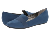 Tahari Adrian Blue Gloss Volga Elastic Women's Flat Shoes