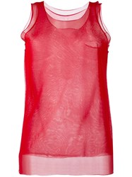 Giorgio Armani Sheer Layered Tank