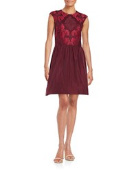 Taylor Lace Fit And Flare Dress Sangria