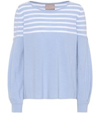 81 Hours Inga Wool And Cashmere Sweater Blue