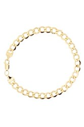 Rcg 14K Yellow Gold 8 Curb Chain Bracelet