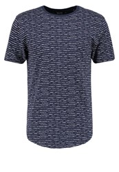 Only And Sons Onsperry Fitted Print Tshirt Dress Blues Dark Blue