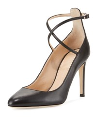 Giuseppe Zanotti Leather Ankle Strap 90Mm Pump Nero