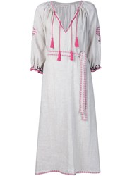 Ulla Johnson Embroidered Peasant Dress White
