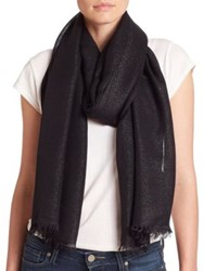 Lord And Taylor Shimmer Frayed Scarf Silver Lining