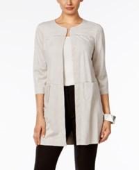 Alfani Faux Suede Jacket Only At Macy's French Stone