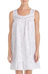 Eileen West Floral Burnout Chemise White