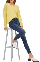 Topshop Jamie High Rise Ankle Skinny Jeans Indigo